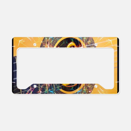 Acoustic Guitar Explosion of  License Plate Holder