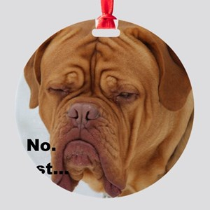 Dour Dogue No. Ornament