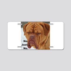 Dour Dogue No. Aluminum License Plate