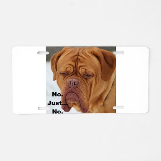 Dour Dogue No. Aluminum License Plate