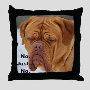 Dour Dogue No. Throw Pillow