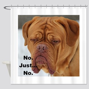 Dour Dogue No. Shower Curtain