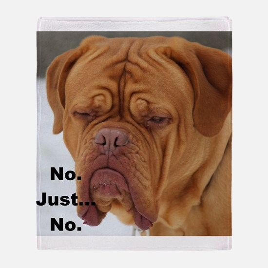 Dour Dogue No. Throw Blanket