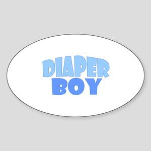 Diaper Boy Oval Sticker