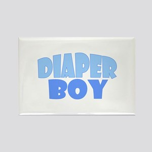 Diaper Boy Rectangle Magnet