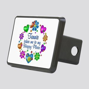 Tennis My Happy Place Rectangular Hitch Cover