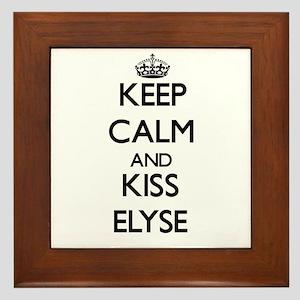 Keep Calm and kiss Elyse Framed Tile
