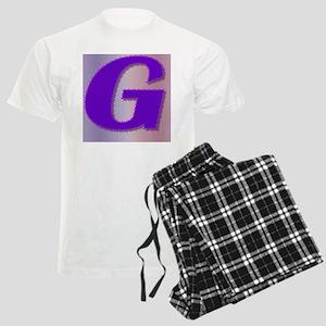 G purple mauve monogram Men's Light Pajamas