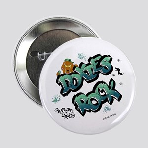 Doxies Rock Graffiti Button