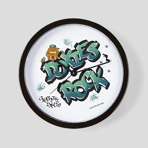 Doxies Rock Graffiti Wall Clock