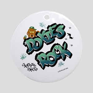 Doxies Rock Graffiti Ornament (Round)