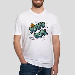 Doxies Rock Graffiti Fitted T-Shirt