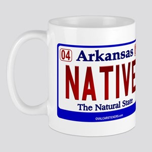 Arkansas License Plate (Nativ Mug