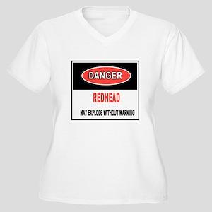 caution-redhead Plus Size T-Shirt