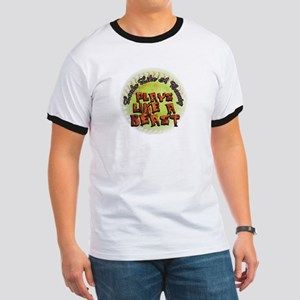 Plays Like A Beast Fastpitch Softball Ringer T