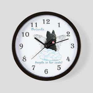 Briard Angel Wall Clock
