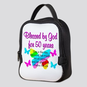 DELIGHTFUL 50TH Neoprene Lunch Bag