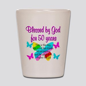 DELIGHTFUL 50TH Shot Glass