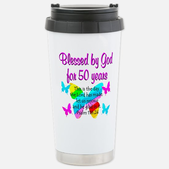 DELIGHTFUL 50TH Stainless Steel Travel Mug