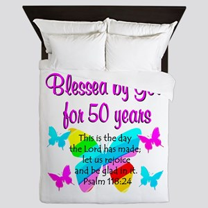 DELIGHTFUL 50TH Queen Duvet