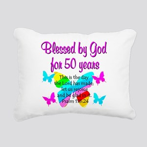 DELIGHTFUL 50TH Rectangular Canvas Pillow