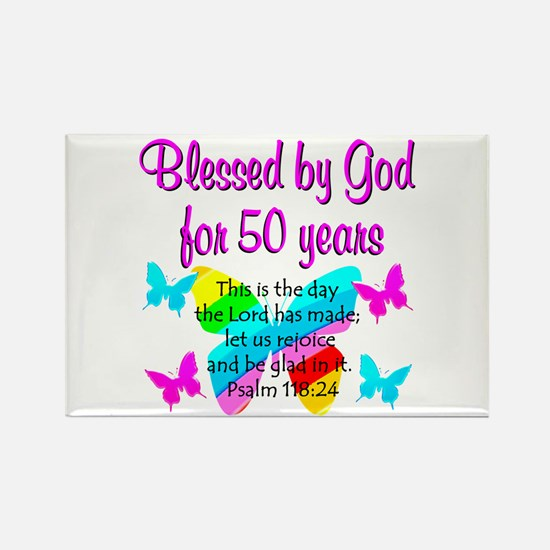 DELIGHTFUL 50TH Rectangle Magnet