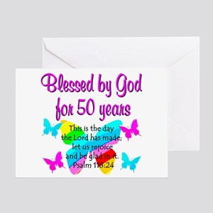 DELIGHTFUL 50TH Greeting Card