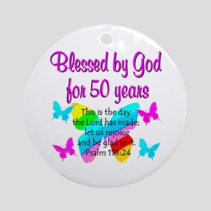 DELIGHTFUL 50TH Ornament (Round)