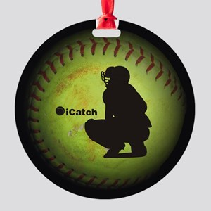 iCatch Fastpitch Softball Ornament
