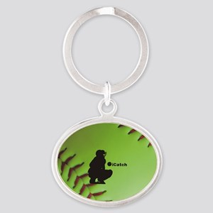 iCatch Fastpitch Softball Oval Keychain