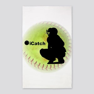 iCatch Fastpitch Softball 3'x5' Area Rug
