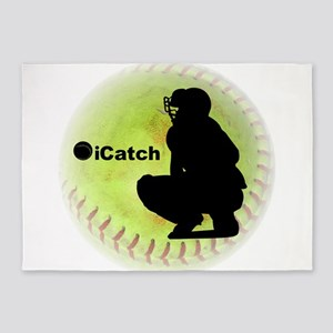 iCatch Fastpitch Softball 5'x7'Area Rug