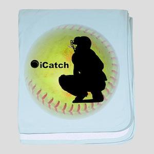 iCatch Fastpitch Softball baby blanket