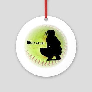 iCatch Fastpitch Softball Ornament (Round)