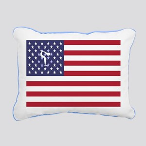 Team Figure Skating USA Rectangular Canvas Pillow