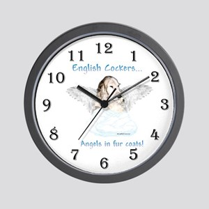 Eng Cocker Angel Wall Clock