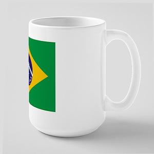 Brazil Flag Large Mug