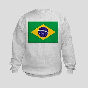 Brazil Flag Kids Sweatshirt