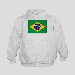 Brazil Flag Kids Hoodie