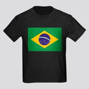 Brazil Flag Kids Dark T-Shirt