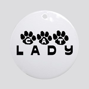 Cat Lady (paws) Ornament (Round)