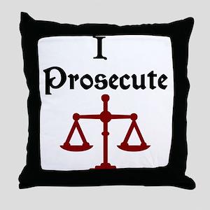 Prosecution Attorney Lawyer Throw Pillow