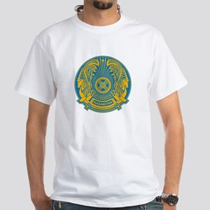 Kazakhstan Coat of Arms White T-Shirt