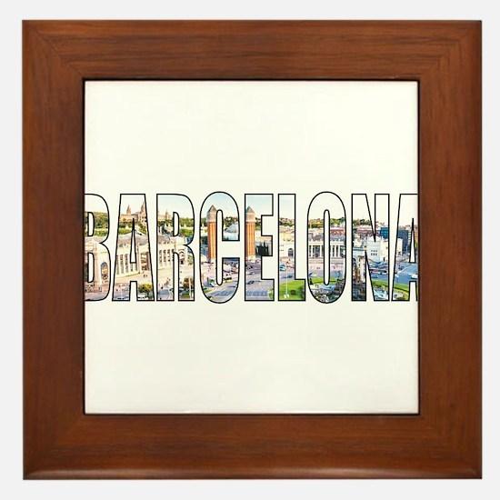 Barcelona Framed Tile