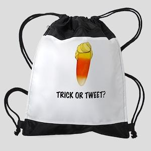 Trick or Tweet Drawstring Bag