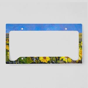 Sunflower Field - By Helen Bl License Plate Holder