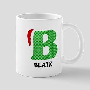 Christmas Letter B Monogram 11 oz Ceramic Mug