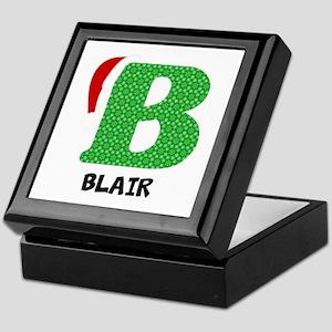 Christmas Letter B Monogram Keepsake Box