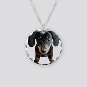 Dachshund001 Necklace Circle Charm
