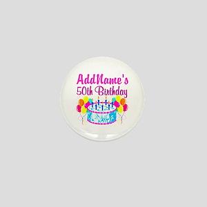 50TH PARTY Mini Button